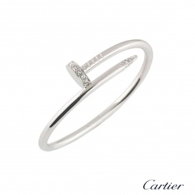 Cartier White Gold Diamond Juste Un Clou Bracelet Size 18 B6048718